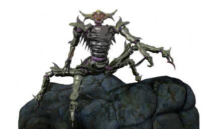 四足螳螂怪物Maya模型