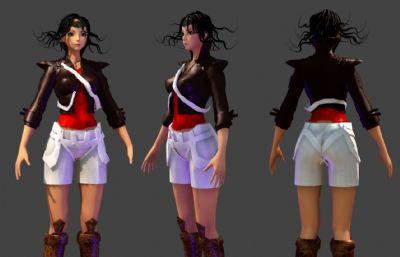 潮女孩Maya模型,有�N�D,有�艄�