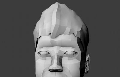 男孩�^像Maya模型