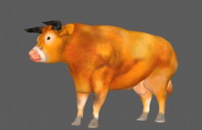 黄牛公牛FBX模型