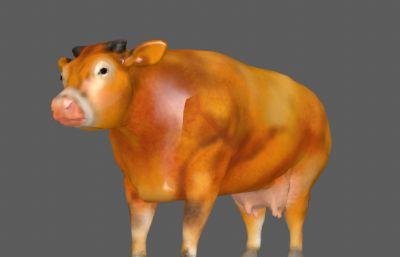 �S牛母牛FBX模型