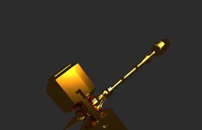 金色�N子武器3D模型,游�蛭淦�