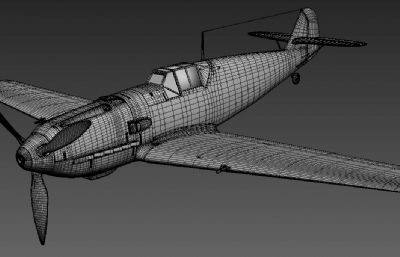 德�bf-109�伟l�我砣�金�倩钊�式�鸲�C3D模型