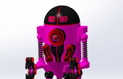 ��四足的��簧�C械�C器人STEP格式模型