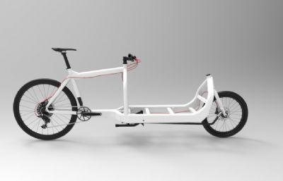 批發市場運貨自行車圖紙模型,STP格式模型