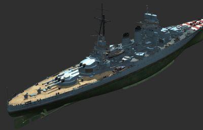 意大利王��海�加富��伯爵��鹆信�3D模型,MAX,FBX�煞N格式