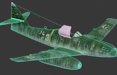 二�鸬��空�me-262�鸲�CMAX模型,FBX模型