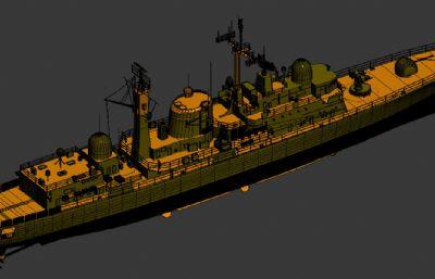 英��皇家海�42型�逐�3D模型