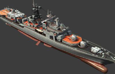 �K�海��o畏�大型反���3D模型,max,fbx格式