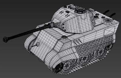 Q版虎王坦克3D模型