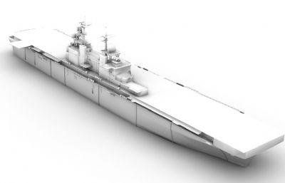 美国海军?#21697;?#32423;两栖攻击舰OBJ模型
