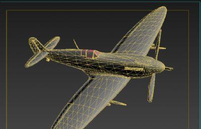 英��皇家空���火�鸲�CFBX模型,OBJ模型