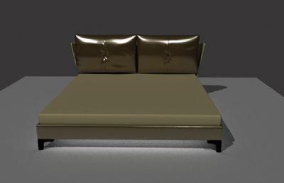 床加枕�^maya模型,MB,OBJ格式模型