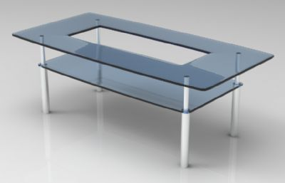茶�卓�d家具3D模型