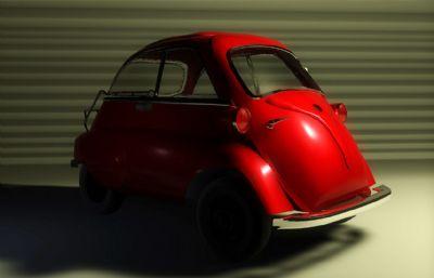 Smart小汽�C4D模型