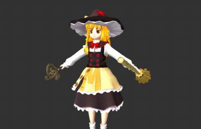 �F雨魔理沙,魔法少女maya模型