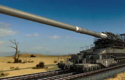古斯塔夫列�炮3D模型