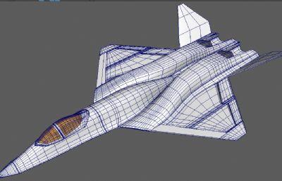 美��空�yf-23�鸲�Cmaya模型