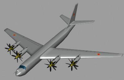 俄�_斯空��D-95�Z炸�C3D模型