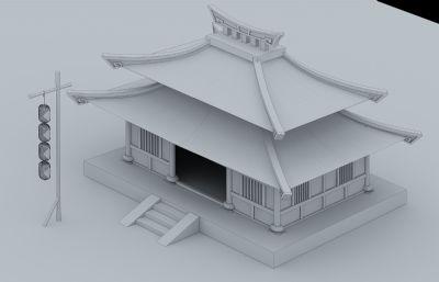 小酒�^,客��3D模型白模