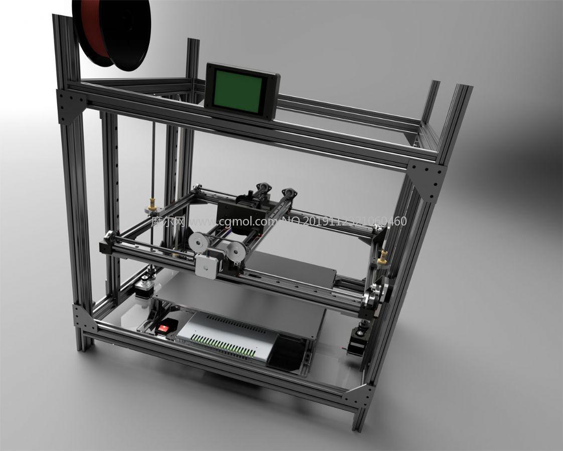 3D打印�C�C器STEP�D�模型