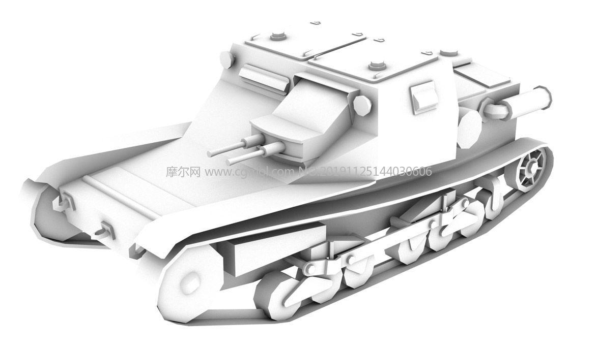 意大利cv-33坦克3D模型