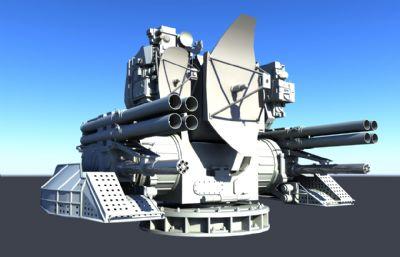 卡什坦近防系�y,近防炮maya模型