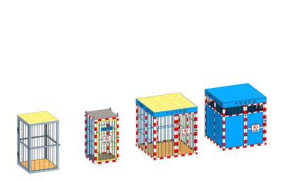 �馄康趸\、�怏w存放棚3D模型