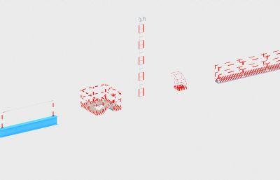 爬梯、吊�\、操作平�_、生命�3D模型