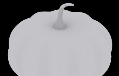 南瓜3D高模白模