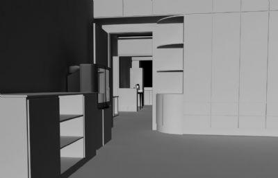 �F代房屋maya模型白模