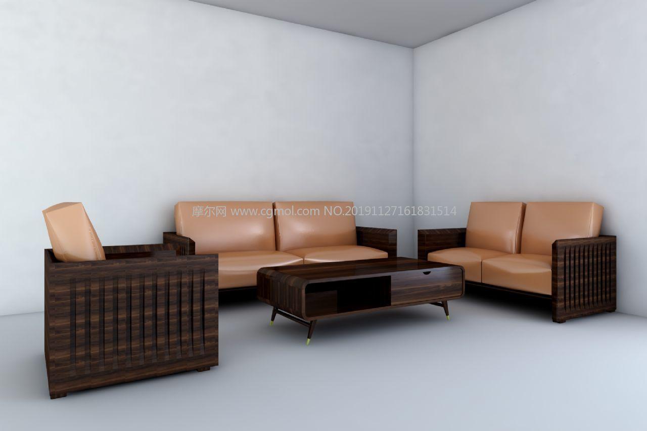 ��木皮�|沙�l茶�捉M合3D模型