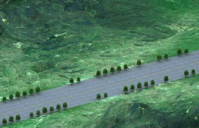 山�g公路�鼍�3D模型