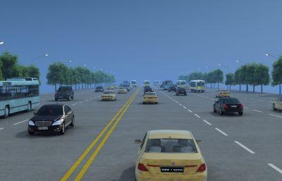 公路�流�赢��鼍�3D模型
