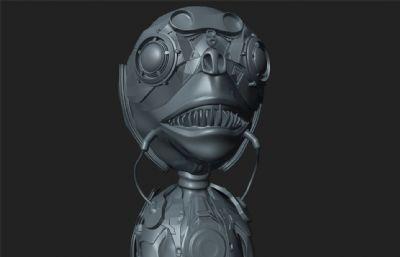 小怪物,外星生物maya模型