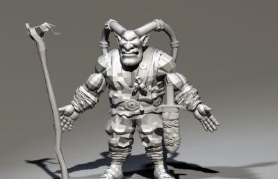 野人羊�^祭司maya模型