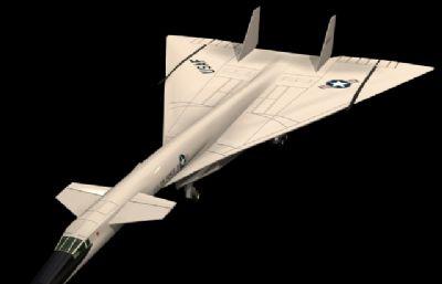 北美航空xb-70�鹇赞Z炸�C3D模型