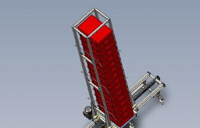 塑料框自动运送设施STP模型