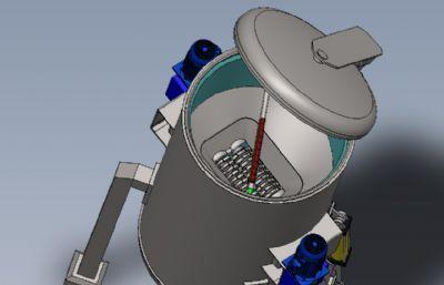 医疗垃圾粉碎机3D图纸模型