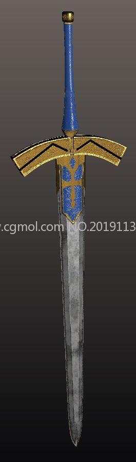 胜利誓约之剑OBJ模型