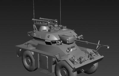 英��狐式�p型�式�b甲�刹燔�3D模型白模