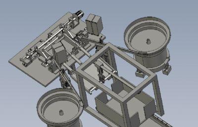圆管钻床自动设备STP模型
