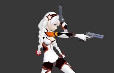 崩�娜�主角琪��娜3D模型,��射��赢�