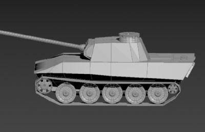简单坦克步战车3D模型