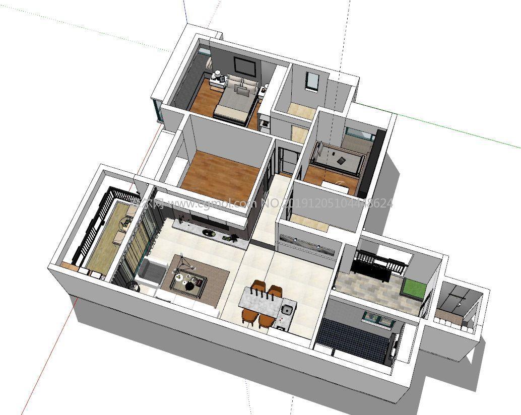 室�榷�居室效果�Dsu模型