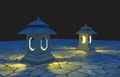 庭院��,中式地��3D模型