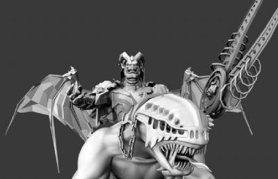 怪物军团首领maya模型