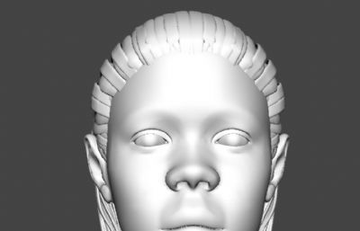 黑人小伙人�^建模maya模型