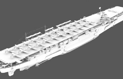 日本�合��翔�Q�航空母�3D模型,MAX,FBX,OBJ格式