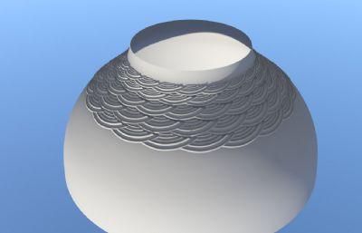 浮雕陶瓷碗Maya模型